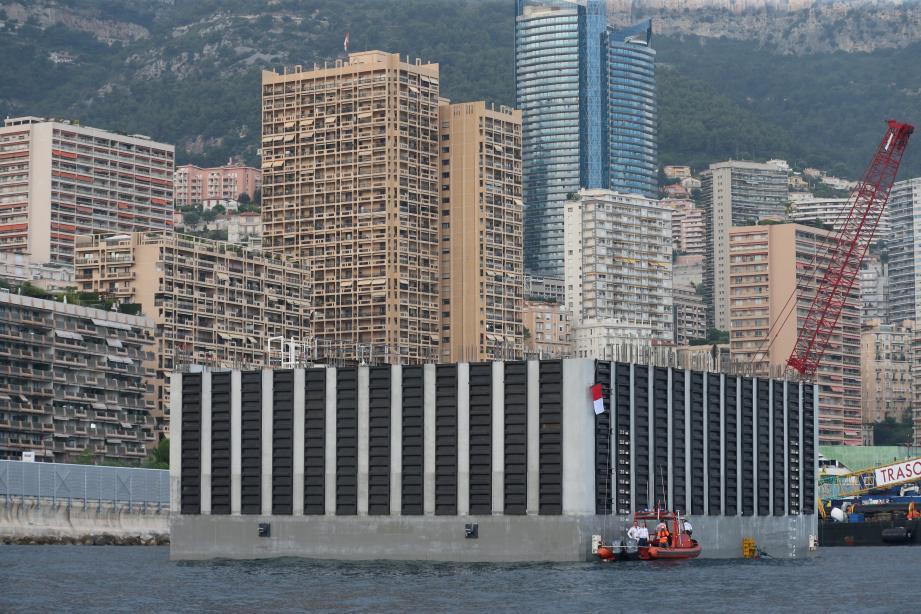 Le premier caisson a été inauguré mercredi 25 juillet par le prince Albert II.