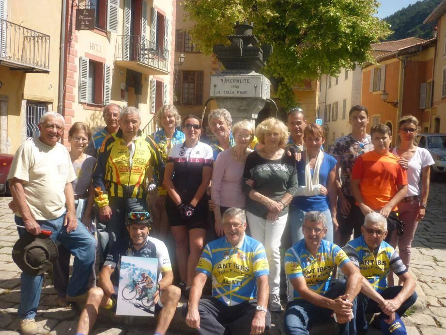Une partie du club Vélo Passion.