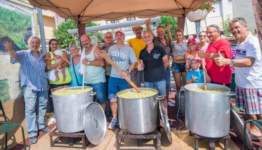 400 litres de soupe au pistou seront préparés pour cette soirée.
