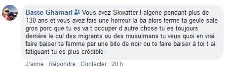 C'est pour ce post que Philippe Vardon a cité à comparaître Basse Ghamari.(Capture Facebook)
