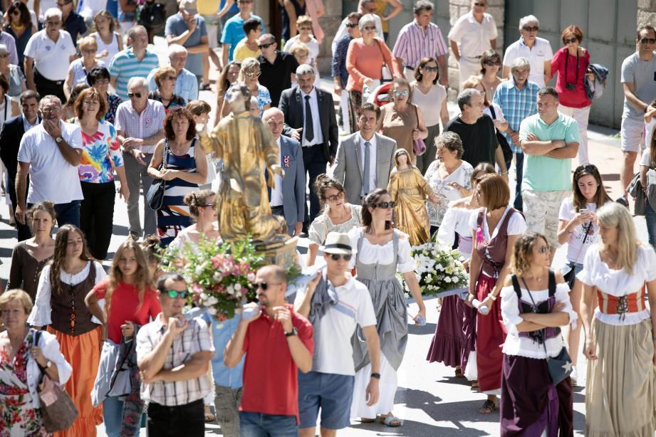 La procession de l'Assomption, qui a aussi été l'occasion d'évoquer les projets à venir.