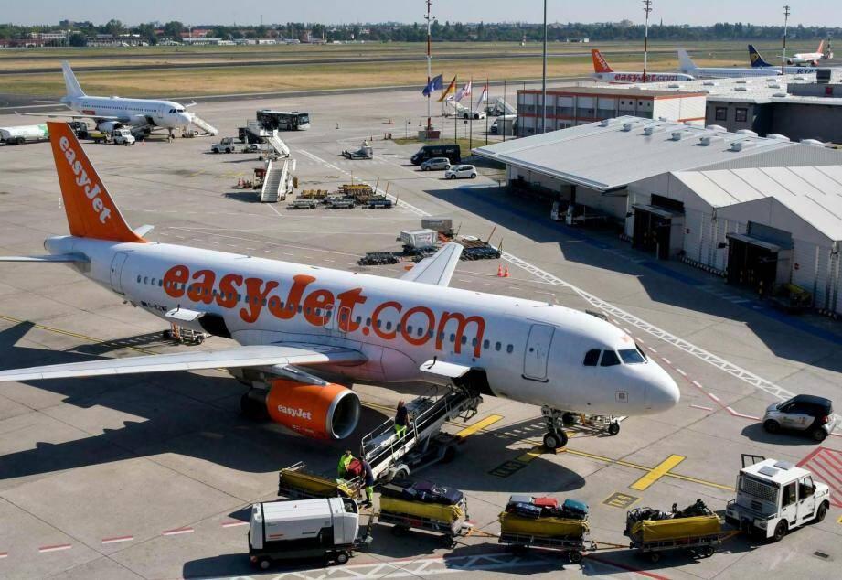 Un appareil d'easyJet sur le tarmac de l'aéroport de Nice.
