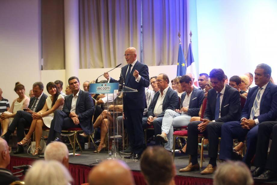 Eric Ciotti a reçu le soutien d'un certain nombre d'élus du département dans sa course à la présidence de LR 06, hier soir à Nice.