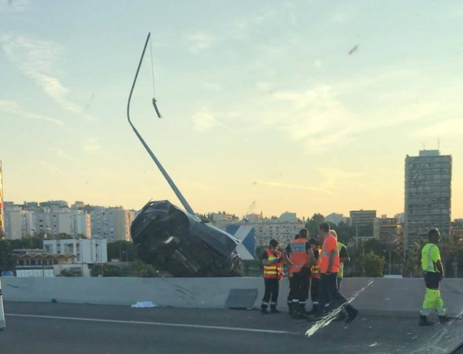 Accident sur l'A8.