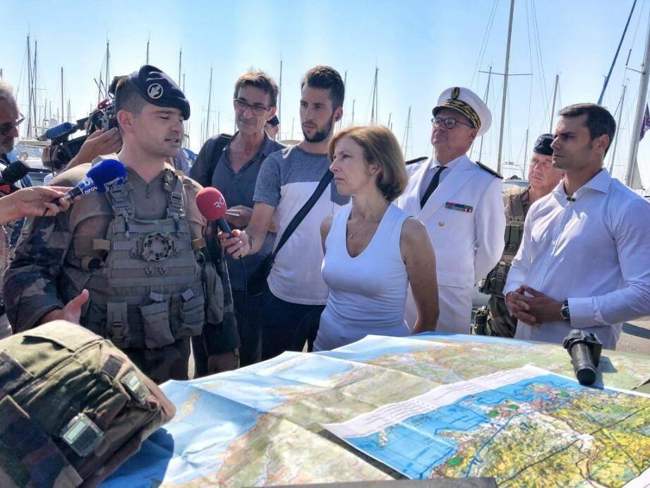 Florence Parly a écouté les militaires de l'opération Sentinelle.