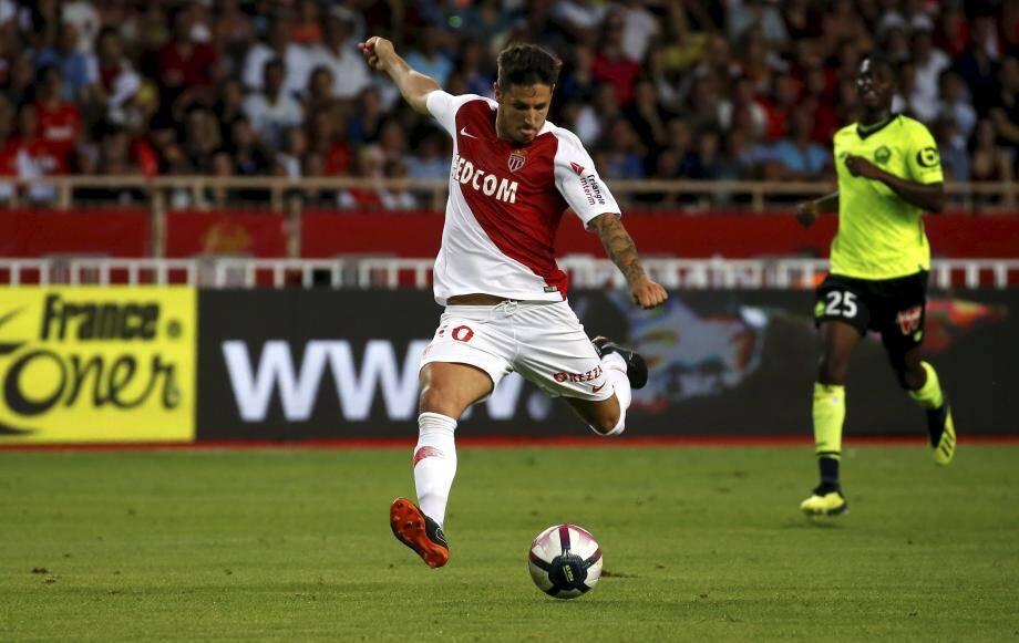 Stevan Jovetic contre Lille, pour son dernier match en date avec Monaco.