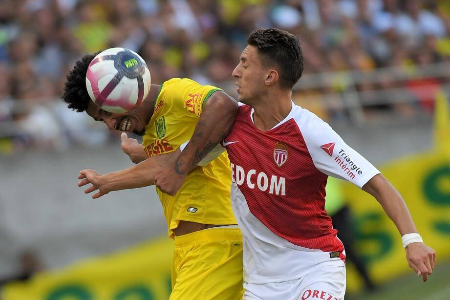 Antonio Barreca lors du match opposant l'AS Monaco au FC Nantes, samedi 11 août.