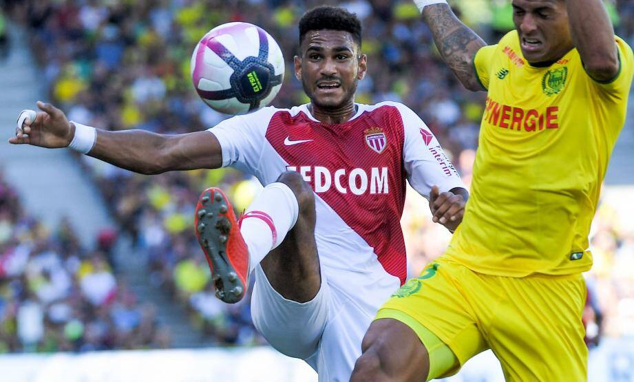 Jordi Mboula lors du match opposant l'AS Monaco au FC Nantes, ce samedi 11 août.