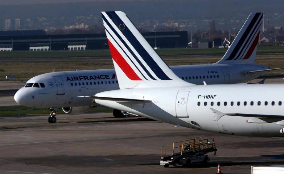 Des avions Air France.