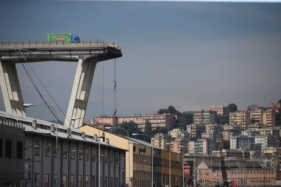 Le pont de Gênes s'est effondré en août.