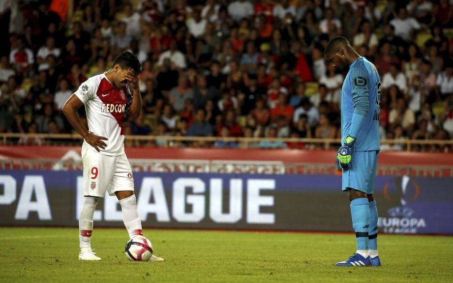 Lors de AS Monaco - Lille (2ème journée de L1).