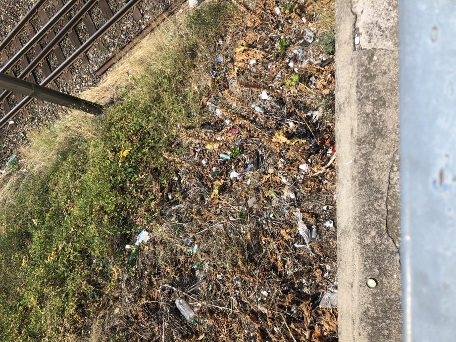 Qui doit nettoyer ces saletés près des voies du chemin de fer : la SNCF ou la Ville ?