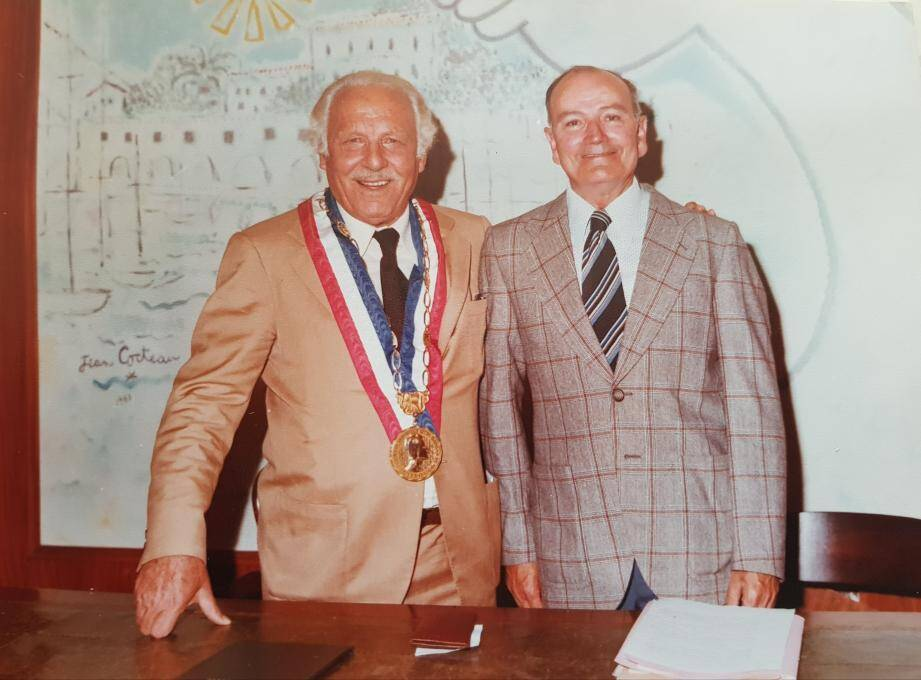 Honoré Toscan (maire de St-Jean 1977-83) et Virgile Allari.(DR)