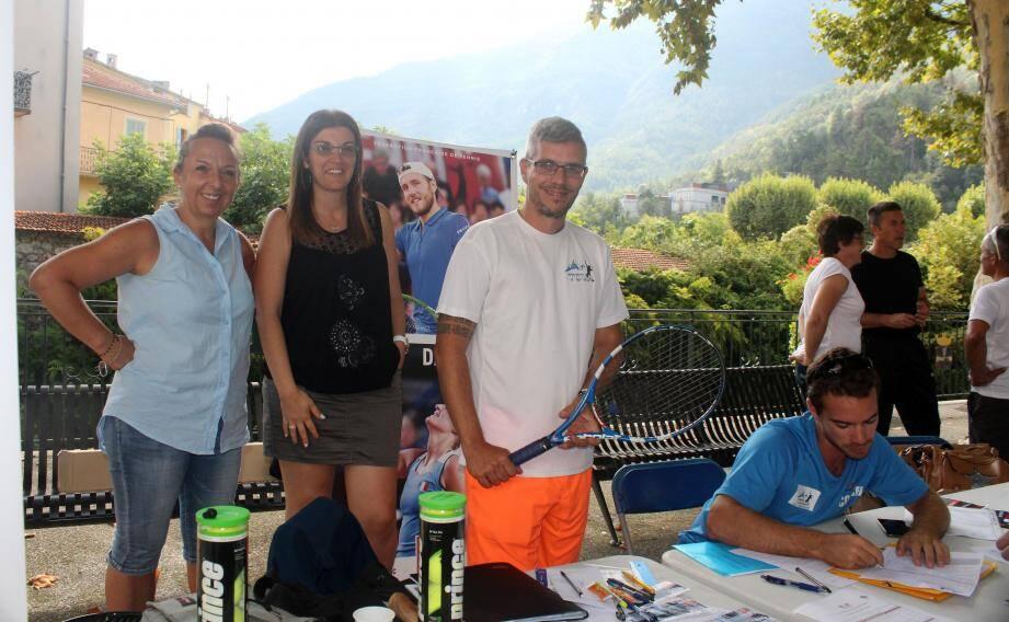 Le stand du Tennis-club des Vallées d'Azur a connu une belle fréquentation.