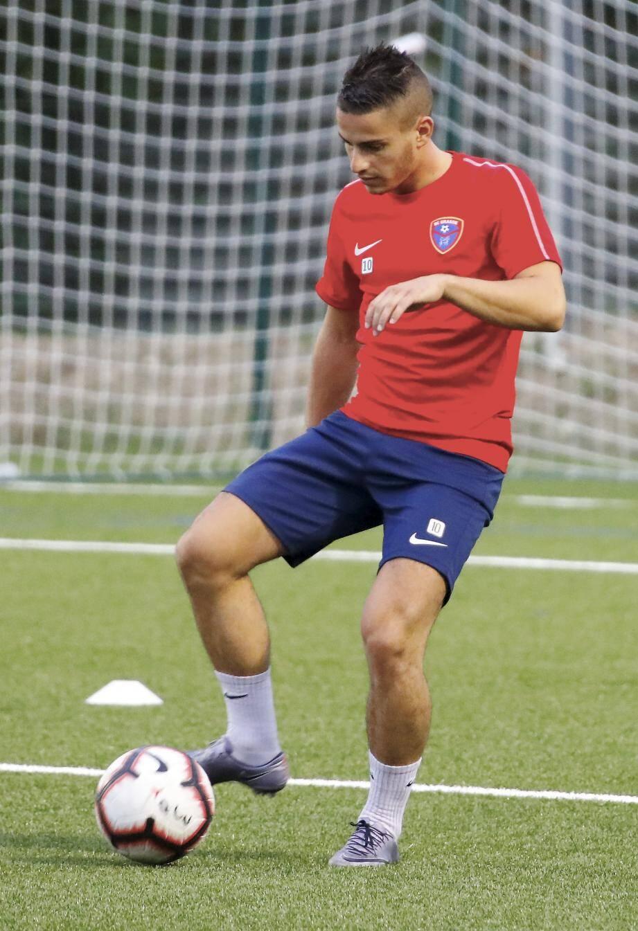 Loïc Malatini, mercredi, à l'entraînement. Ce soir, il sera enfin de retour sur les terrains..