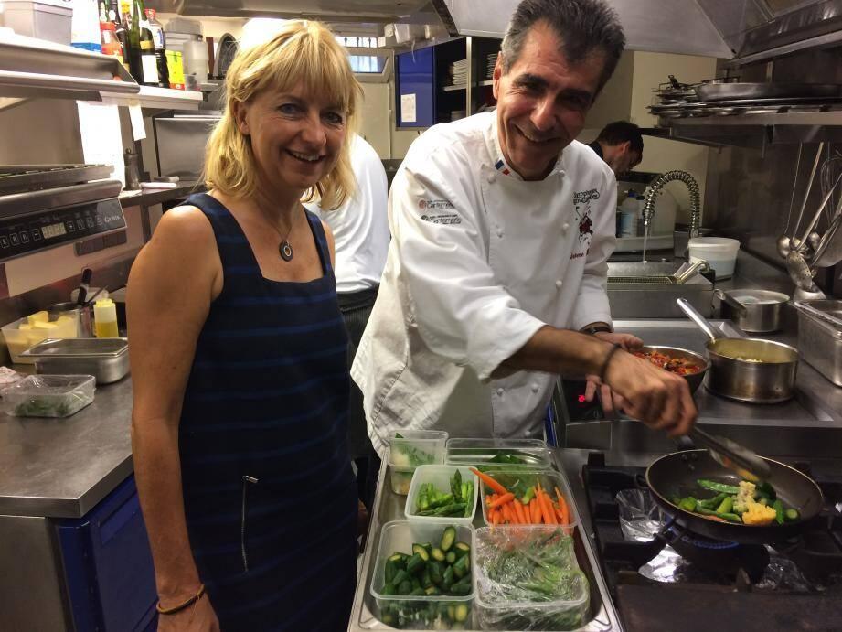 Jérôme Héraud, le chef des cuisines du Cantemerle est la parrain de la 1ère édition du « Jardin dans l'assiette ». Un