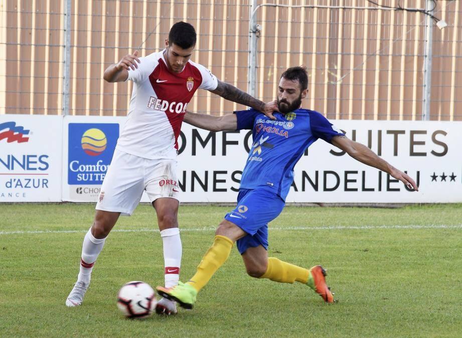 L'attaquant italien Pellegri a joué 45 minutes face à Hyères.