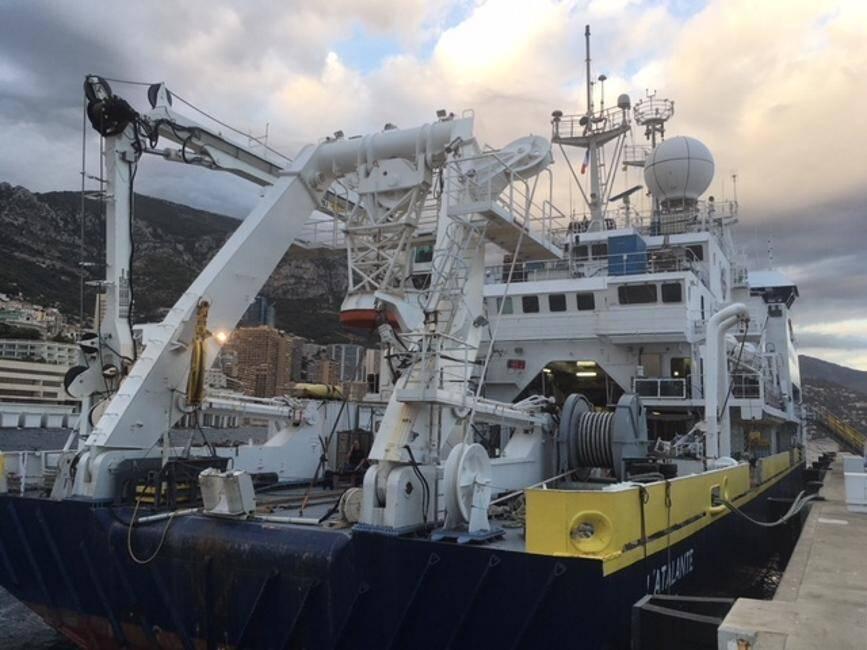 Le navire océanographique de l'Ifremer a recueilli des données précieuses par 2 000 mètres de profondeur.