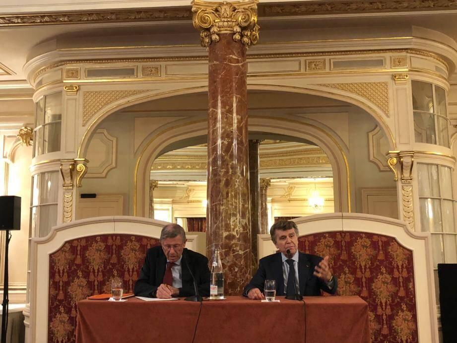 Denis Bauchard, ancien ambassadeur, et Thierry de Montbrial, fondateur et président de l'IFRI, étaient lundi les invités de MMF.