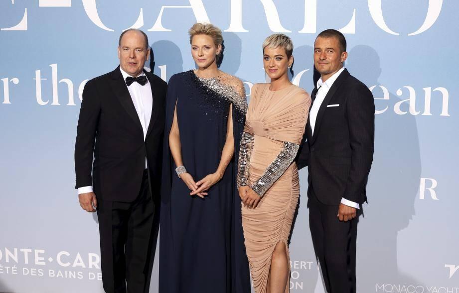 Katy Perry et Orlando Bloom ont été accueillis par le couple princier.