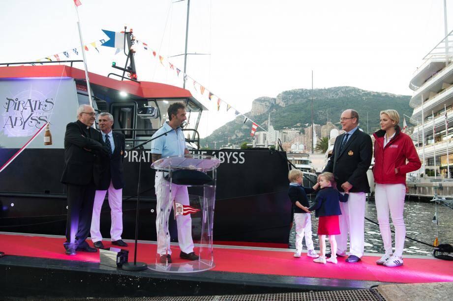 Le couple princier et ses enfants ont assisté à la cérémonie.