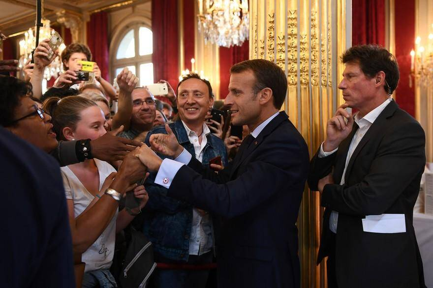 Emmanuel Macron lors des Journées du Patrimoine.