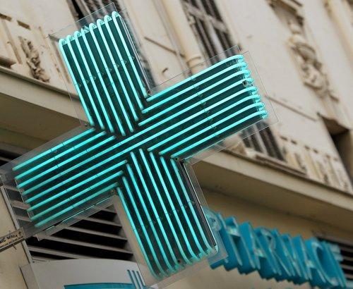 Illustration d'une pharmacie.