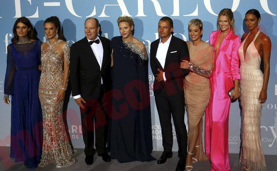 Le couple princier, accompagné notamment d'Orlando Bloom et Katy Perry au 2e gala des Océans.