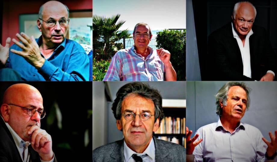 Boris Cyrulnik, Pascal Picq, Eric-Emmanuel Schmitt, Jean-François Colosimo, Alain Finkielkraut et Franz-Olivier Giesbert.