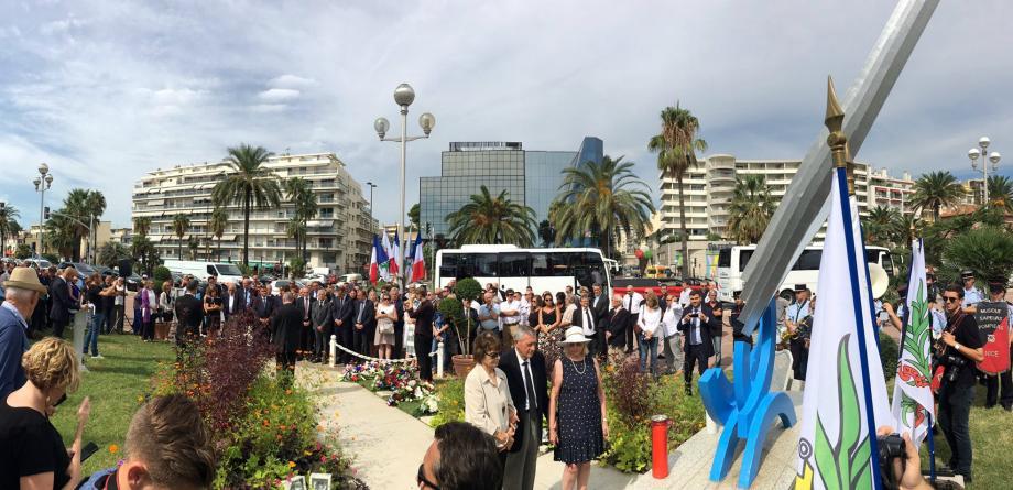 Les cérémonies du 5àe anniversaire de la tragédie, lundi matin à Nice.