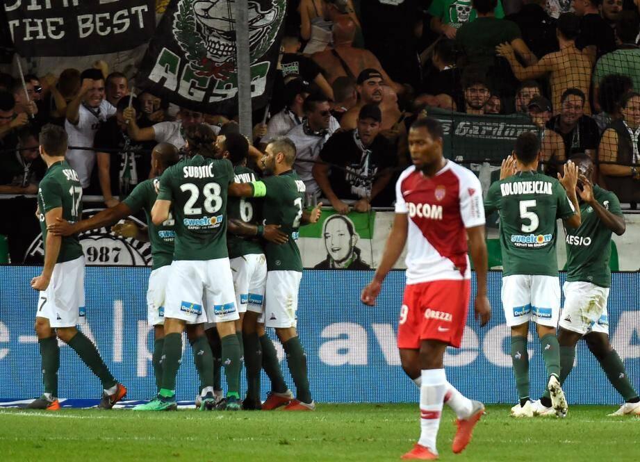 Sidibé et l'AS Monaco ont cédé face au réalisme des Verts.