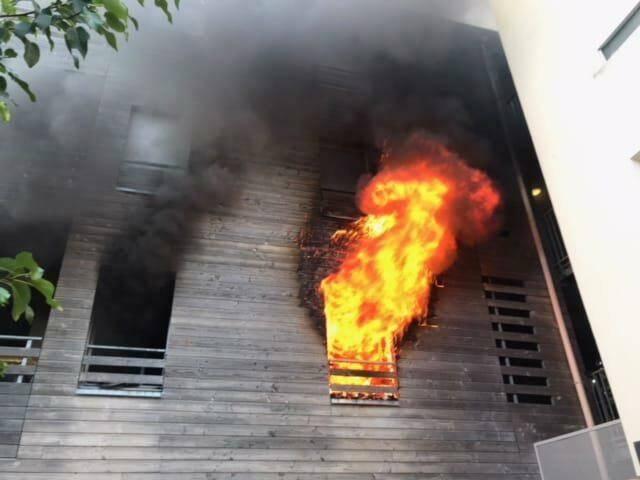 L'appartement a été totalement détruit par les flammes