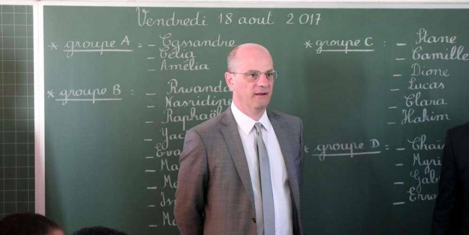 Le ministre de l'Education Jean-Michel Blanquer.