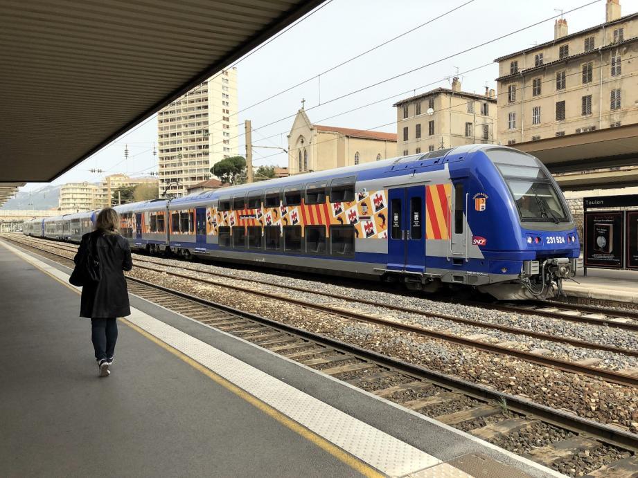 L'actuelle gare de Toulon.
