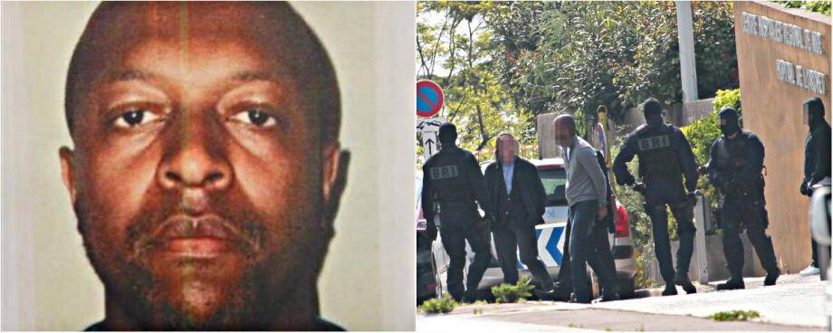 Al Hair Hamadi aurait tenté de recruter des hommes de main, semble-t-il en vain. A droite, la reconstitution en 2015 du double assassinat à l'hôpital l'Archet à Nice.