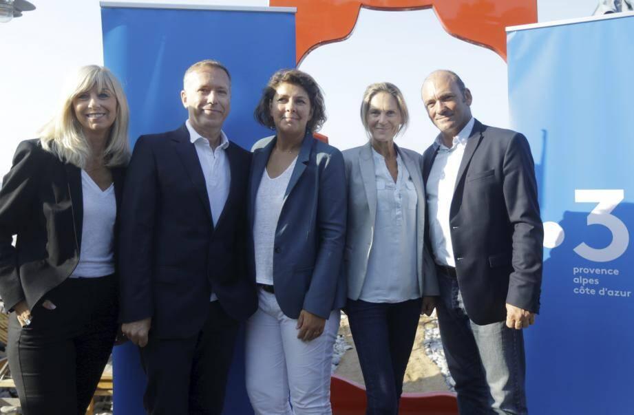 L'équipe de France 3 Provence-Alpes-Côte d'Azur lors de la conférence de presse de rentrée 2018.