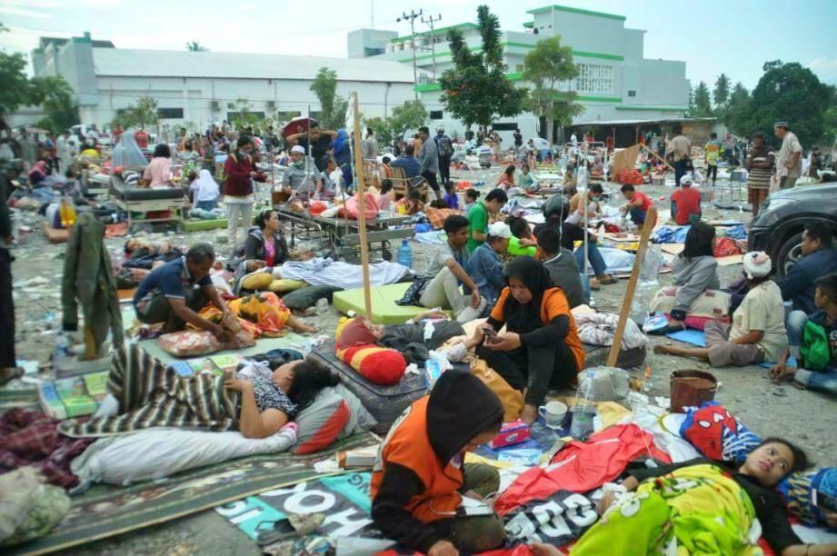 Le puissant séisme a été suivi d'un tsunami sur l'île de Célèbes.