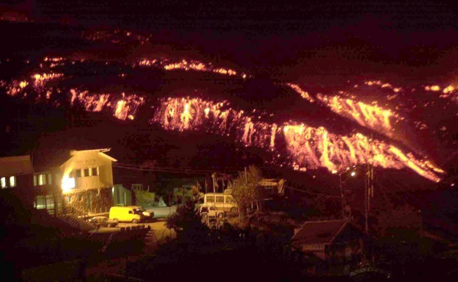 Irruption de de l'Etna en 2001.