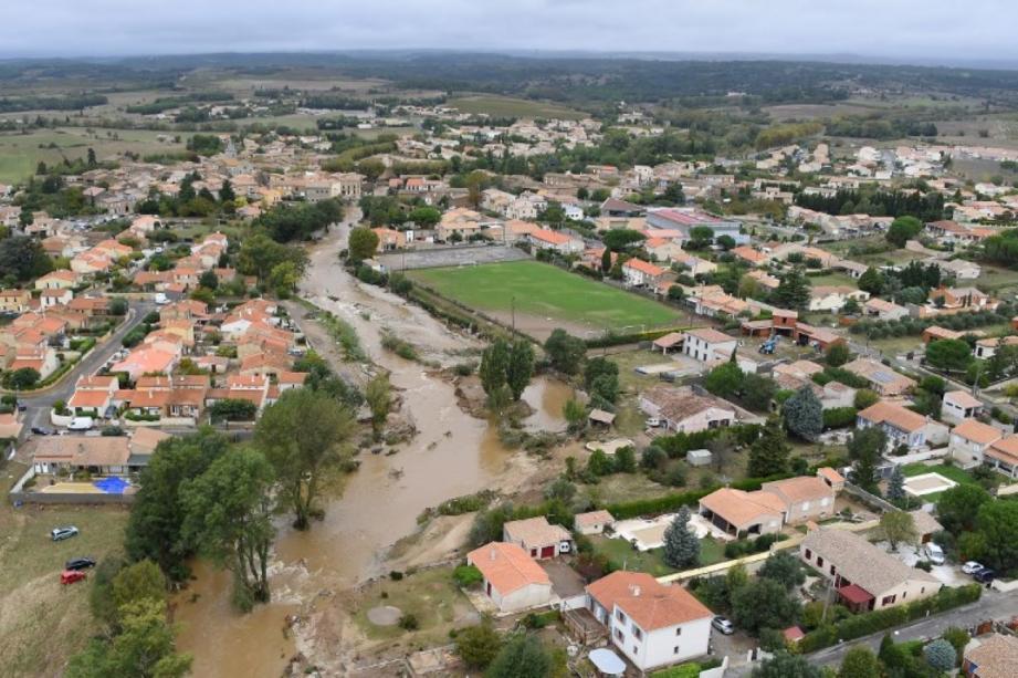 Le lundi 15 octobre, de violentes inondations ont eu lieu dans l'Aude.