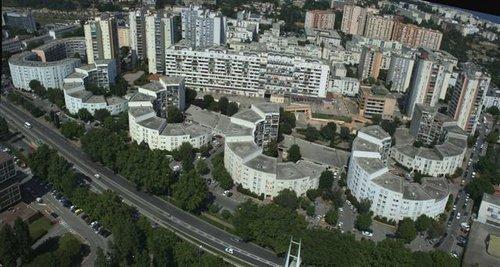 Vue générale sur le quartier des Moulins à Nice Ouest