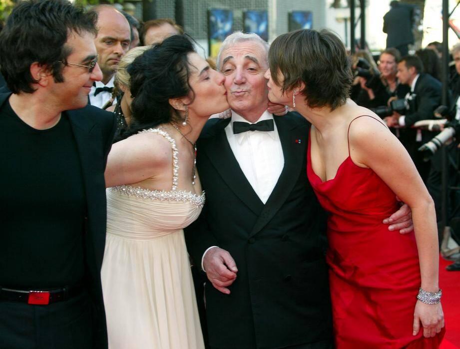 La montée des marches, lors du Festival de Cannes en 2002, pour le film Ararat.