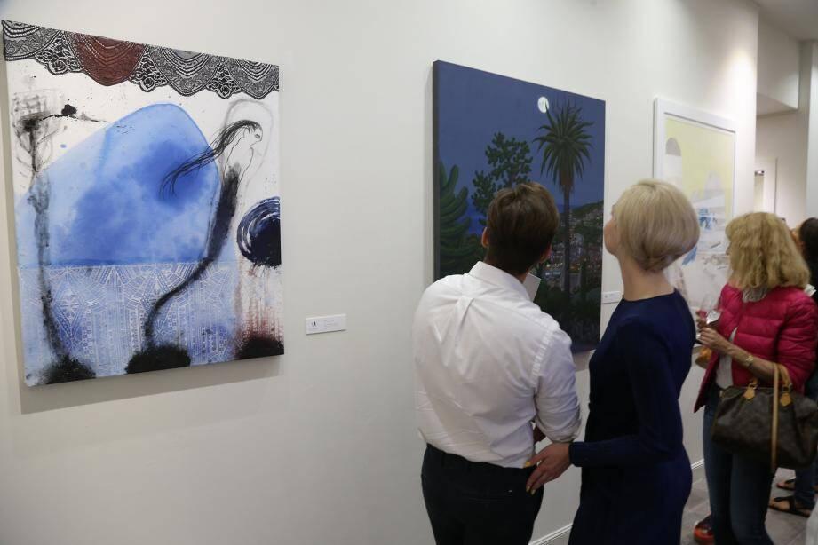 Les œuvres sont pour l'heure visibles à la galerie Kamil Art au Larvotto.