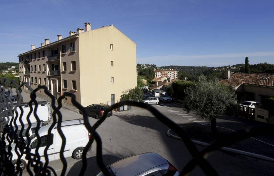 Le quartier du Suve à Vence, où ont eu lieu les interpellations lundi après-midi.