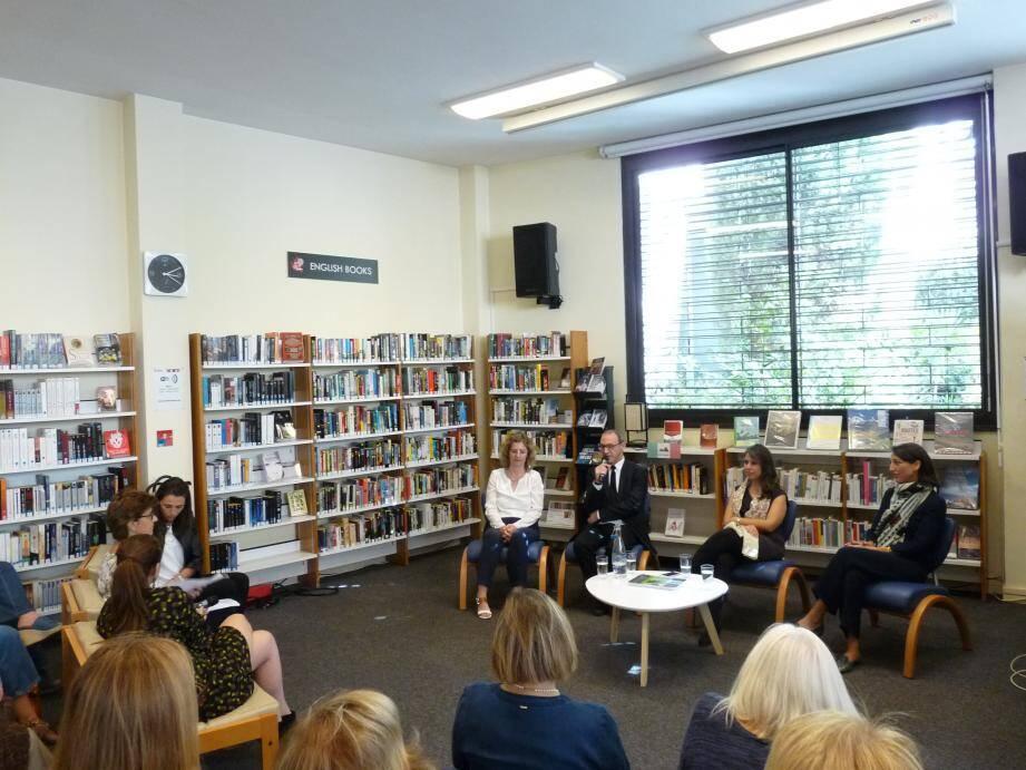 Hier, plusieurs auteurs nommés pour la Bourse de la découverte ont rencontré les lecteurs à la bibliothèque Louis-Notari.