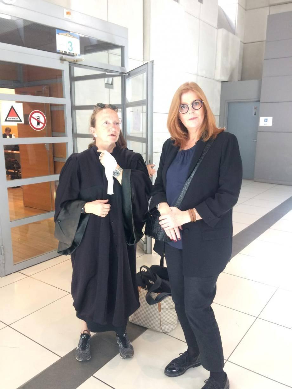 Karine Vasseur et son avocate Me Catherine Taylor-Salusse.