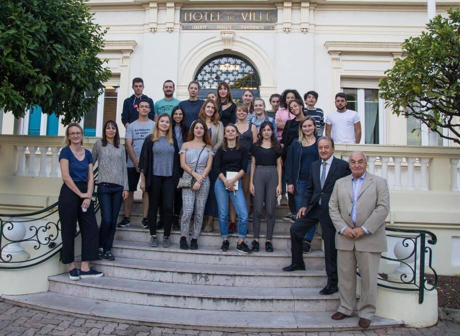 Les étudiants ont été accueillis en l'hôtel de Ville dans le cadre de leurs workshop.