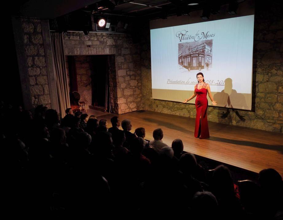 Anthéa Sogno a présenté sa nouvelle saison sur la scène de son Théâtre des Muses.