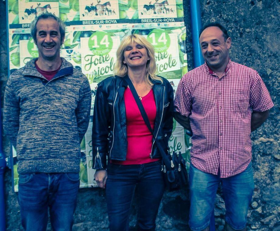 Jérôme Bouéri, Marylène Walkowiak et Robert D'alessandri, le cœur dU COFAAC.