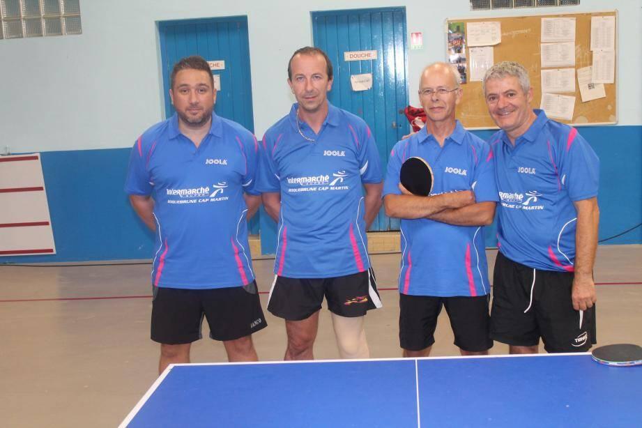 L'équipe 3 : Grégory Sahuc, Christophe Soulat, Hervé Christophe et Jean-Régis Moreau.(DR)