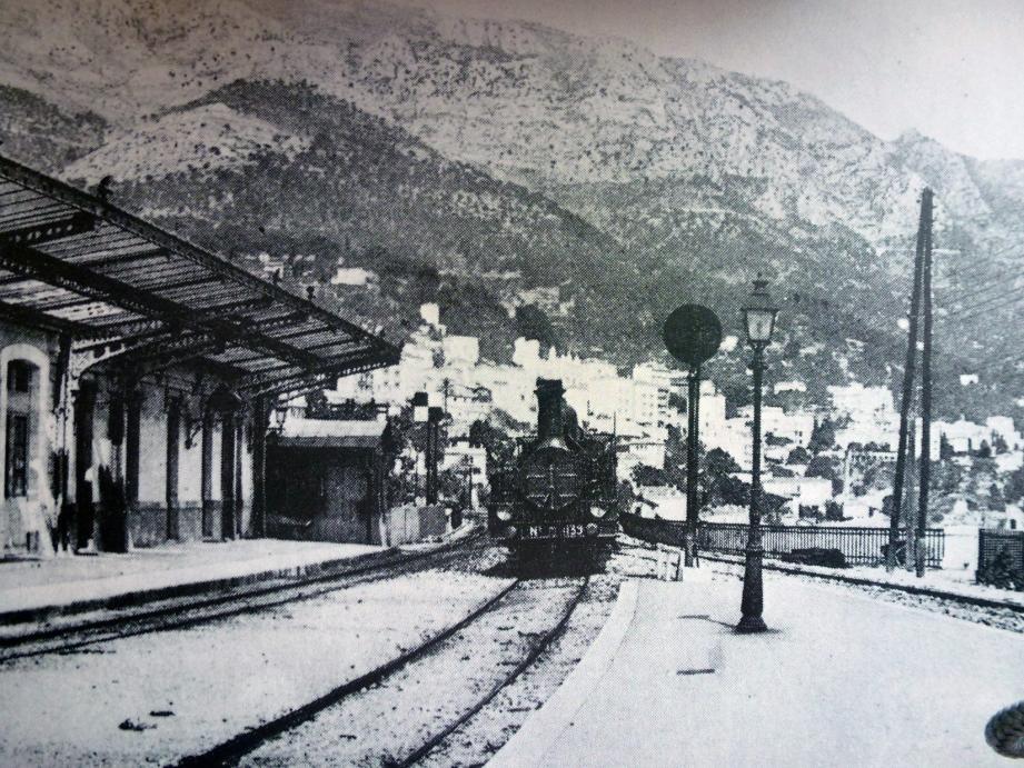 La gare de Monte-Carlo au tout début de son exploitation.(DR)